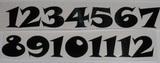 Čísla na hodiny nalepovací černá - TYP Č.19- v.1,8cm