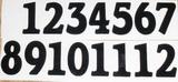 Čísla na hodiny nalepovací černá - obyčejná  v.1,3cm