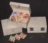 Dřevěná krabička na čaj 6 přihrádek