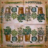 BY 010 - ubrousek 33x33 - květníky na hnědém