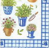 BY 003 - ubrousek 33x33 - bylinky modré mix