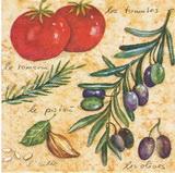 OL 025 - ubrousek 33x33 - olivy+rajče