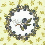 OL 014 - ubrousek 33x33 - olive v kruhu