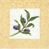 OL 010 - ubrousek 33x33 - olivy v béžovém rámu