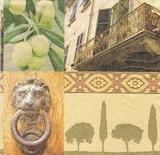 OL 004 - ubrousek 33x33 - olivy + balkon