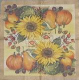 ZA 032 - ubrousek 33x33 - podzimní zátiší slunečnice