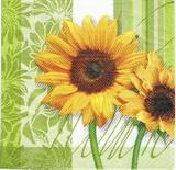 SL 007 - ubrousek 33x33 - slunečnice zelená
