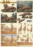 3D papír č.04 - gepard+žirafa-SLEVA