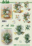 3D papír č.18 - tulipány
