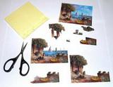 **** 3D papíry k vytváření dekorací- obrázky, přání....