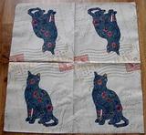 ZV 014 - ubrousek 33x33 - kočka+známka