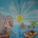 DE 038 - ubrousek 33x33 - piráti na ostrově