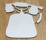 SBHD0103 - prkénko TELEFON 25x26cm