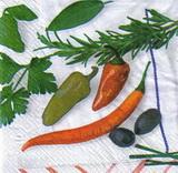 OZ 013 - ubrousek 33x33 - zelenina+bylinky mix