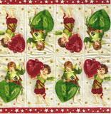 PK 029 - kapesníček 21x21 - vánoční andělíčci