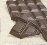 KM 001 - ubrousek 25x25 - čokoláda