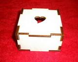 Krabička /šperkovnice/ 9x9x5 - srdíčko