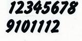Čísla na hodiny nalepovací černá - typ č.17 -   v.1,4cm
