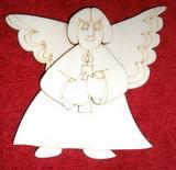 3D výřez anděl v.10x10,5cm