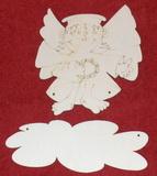 Výřez jmenovka ježíšek s křídly v.15x13,5cm