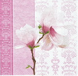 KV 186 R2S - ubrousek 33x33 - květina na růžovém
