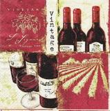 KM 066 R2S - ubrousek 33x33 - červené víno