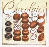 KM 067 AMBIENTE - ubrousek 33x33 - chocolate