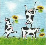 ZV 060 IHR - ubrousek 33x33 - kravičky se slunečnicí