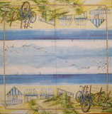 MO 056 AMBIENTE - ubrousek na decoupage 33x33 - domky