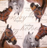 ZV 068 Home Fas.. - ubrousek na decoupage 33x33 - horses