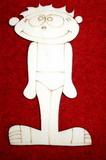 2D výřez chlapeček léto - 12,5x6,5cm