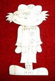 2D výřez chlapeček podzim - 12x8cm
