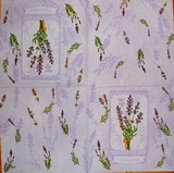 BY 054 - ubrousek na decoupage 33x33 - lavender na fial.