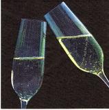 KM 073 - ubrousek 33x33 - 2skleničky