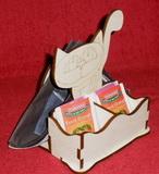 *Stojánek na čaj 2 komory - motiv KOČKA stojící
