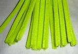 Plyšový drátek 0,8cm/30cm žlutá jasná neon