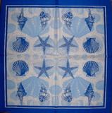 MO 058 PPD - ubrousek 33x33 - modré mušle