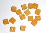 Korálky kostičky ORANŽOVÉ  6 x 6 mm-25ks