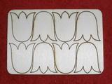 Výřez TULIPÁN 8ks v sadě- v.4x3,5cm