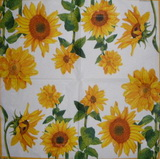 SL 031 AMBIENTE - ubrousek 33x33 - slunečnice