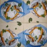 KM 079 Ihr - ubrousek 33x33 - jídlo na stole