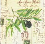 OL 040 PPD - ubrousek 33x33 - olivy na dopise...