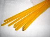 Plyšový drátek 0,8cm/30cm tmavší žlutá