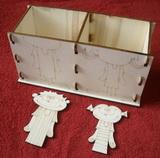 Krabička - stojánek na tužky 2v1-HOLKA+KLUK