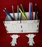 Krabička - stojánek na tužky 2v1-HOLKA+HOLKA