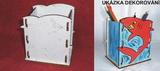KRB041 - Krabička - stojánek na tužky ŽRALOK - 11,5x12,5x9cm