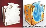 Krabička - stojánek na tužky RYBA - 10,5x v.13,5x9cm