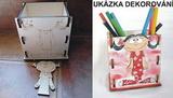Krabička na tužky HOLČIČKA 11,5x12x9cm
