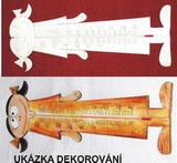 Teploměr HOLČIČKA - v. 28,5x10,5cm