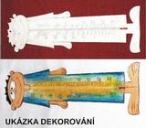 Teploměr CHLAPEČEK - v. 28,5x10cm